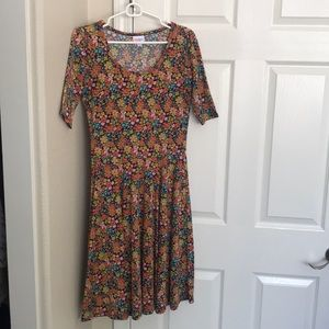 LuLaRoe Floral Flowy Dress Size Medium